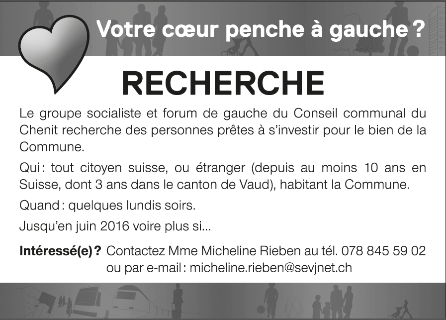 Annonce conseil communal, 16.02.15