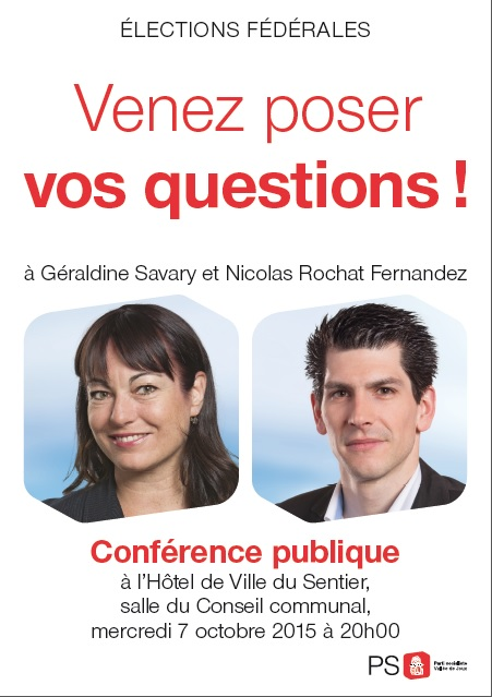 Affiche Savary Nicolas, 16.09.2015